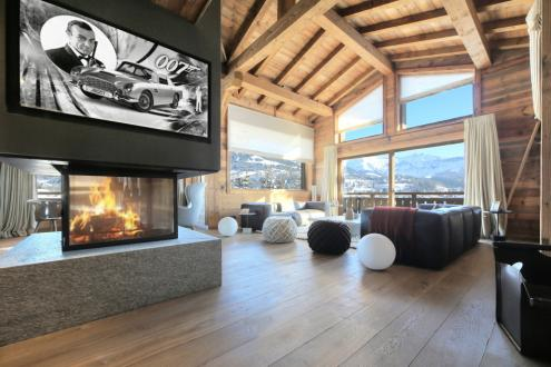 Chalet de luxe à louer MEGEVE, 300 m², 5 Chambres