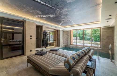 Chalet de luxe à louer MEGEVE, 460 m², 5 Chambres,