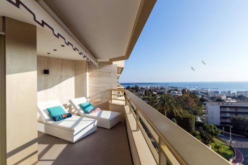 Квартира класса люкс в аренду Канны, 150 м², 3 Спальни,