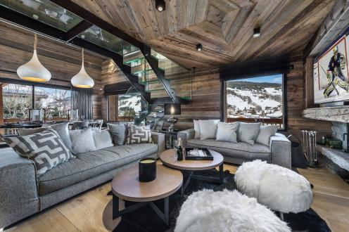 Luxury Chalet for rent MEGEVE, 325 m², 6 Bedrooms