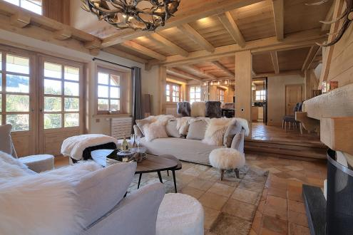Luxury Chalet for rent MEGEVE, 220 m², 5 Bedrooms,