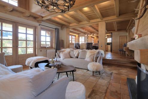 Chalet de luxe à louer MEGEVE, 220 m², 5 Chambres,
