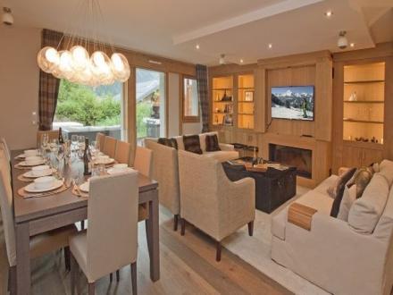 Chalet de luxe à louer CHAMONIX MONT BLANC, 160 m², 4 Chambres