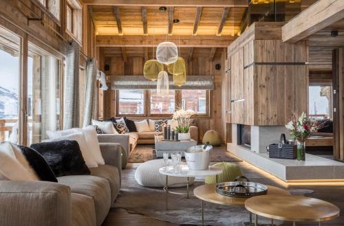 luxus chalet zu vermieten megeve 900 m 6 schlafzimmer - Luxus Chalet 6 Schlafzimmer