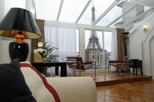 Luxus-Wohnung  zu vermieten PARIS 16E, 85 m², 2 Schlafzimmer