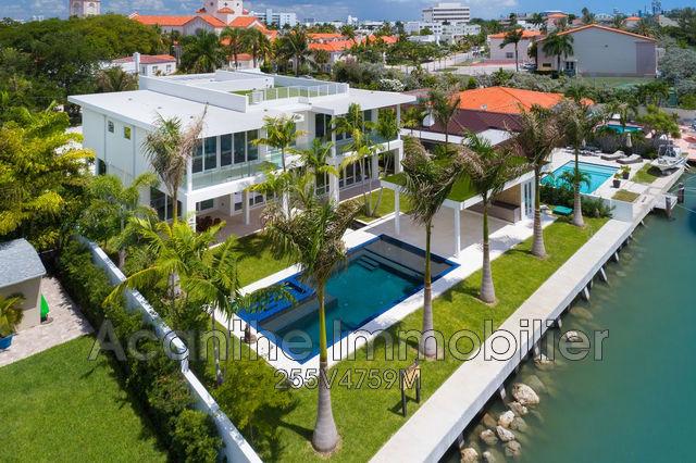 Vente maison de luxe floride 5 pi ces 700 m2 6 450 000 - Appartement de luxe miami beach m butler ...