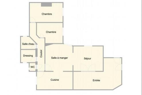 Квартира класса люкс на продажу  Париж 16ый, 100 м², 2 Спальни, 1240000€