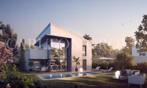 Villa de luxe à vendre LA ROQUETTE SUR SIAGNE, 160 m², 4 Chambres, 739000€