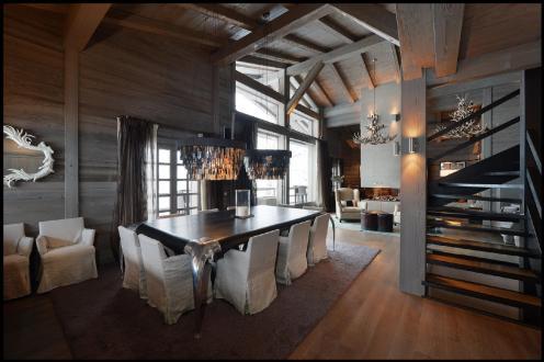 Шале класса люкс в аренду Межев, 500 м², 5 Спальни,