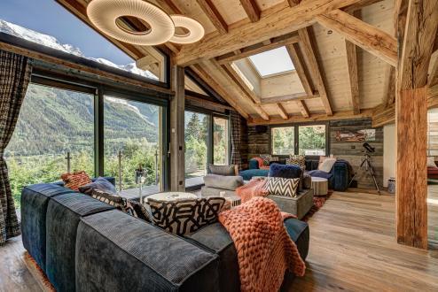 Chalet de luxe à louer CHAMONIX MONT BLANC, 350 m², 7 Chambres,