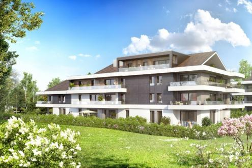 Appartement neuf de luxe à vendre MESSERY, 105 m², 4 Chambres, 549000€