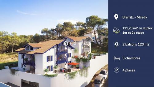Appartement de luxe à vendre BIARRITZ, 111 m², 3 Chambres, 1224320€
