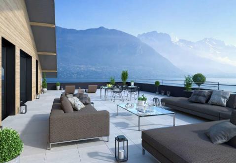 Luxe Nieuwbouw appartement te koop SEVRIER, 162 m², 4 Slaapkamers, 1545000€