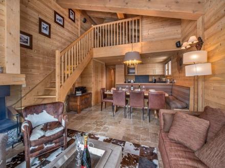 Luxus-Wohnung zu vermieten MEGEVE, 110 m², 3 Schlafzimmer,