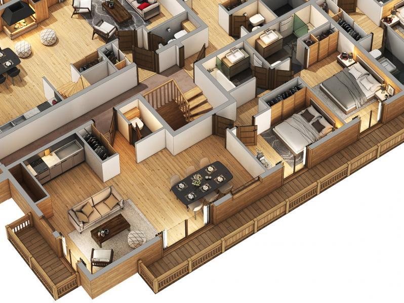Новые апартаменты класса люкс Куршевель, 75 м², 2 Спальни, 1170000€