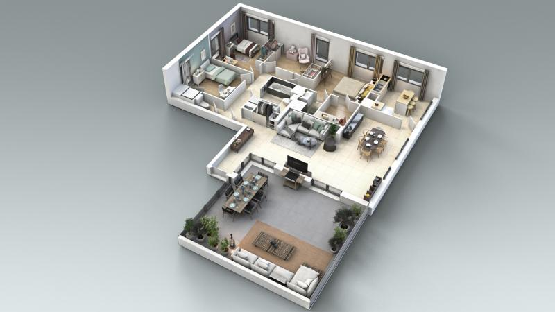 Prestigieuze Nieuwbouw appartement SAINTE FOY LES LYON, 122 m², 4 Slaapkamers, 777000€